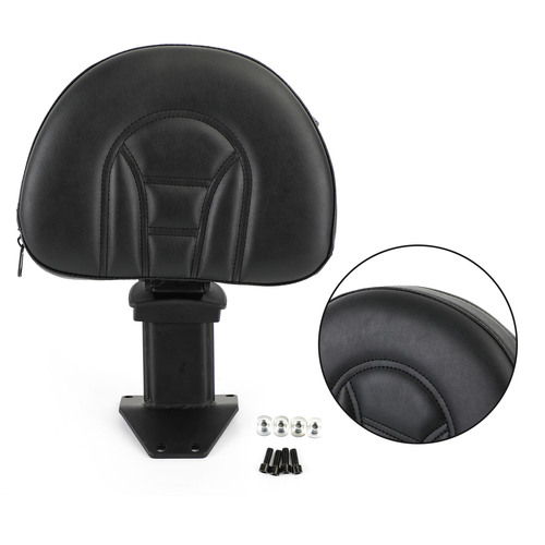 Adjustable Motorcycle Driver Backrest fit for Honda Goldwing GL 1800 2018-2020 Black