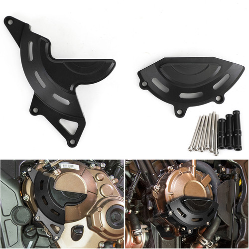 Engine Alternator Clutch Cover Guard Crash Pad Fit for Honda CB650R 19-20 Black