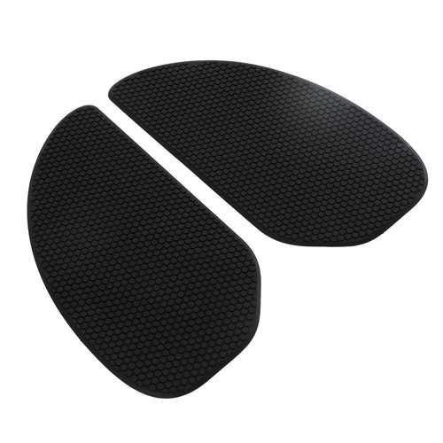 2x Side Tank Traction Grips Pads For Cafe Racer Custom Bobber Chopper Clubman Black