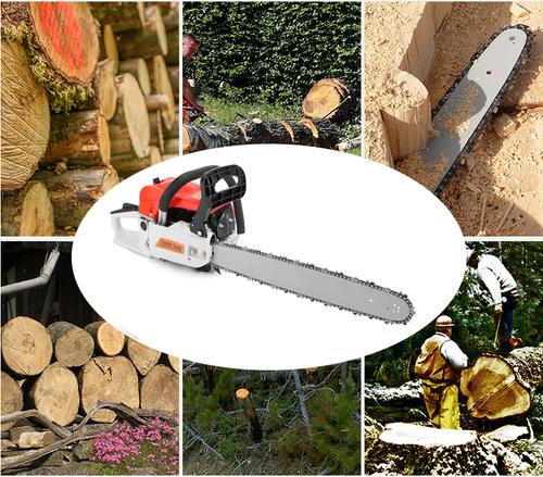 "22"" 52CC Gasoline Chainsaw Cutting Wood Gas Sawing Aluminum Crankcase Chain Saw"