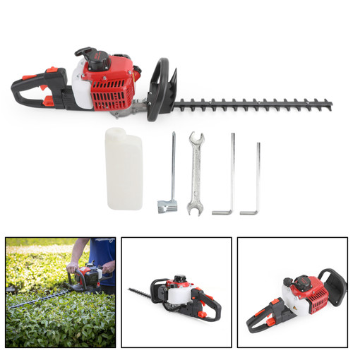 """24"""" Double Sided Blade 26cc Gas Hedge Trimmer Recoil Gasoline Trim Blade"""