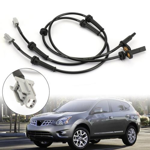 2Pcs Front ABS Wheel Speed Sensor Fits For Nissan Rogue 2.5L 2008-2013 ALS1658 Black