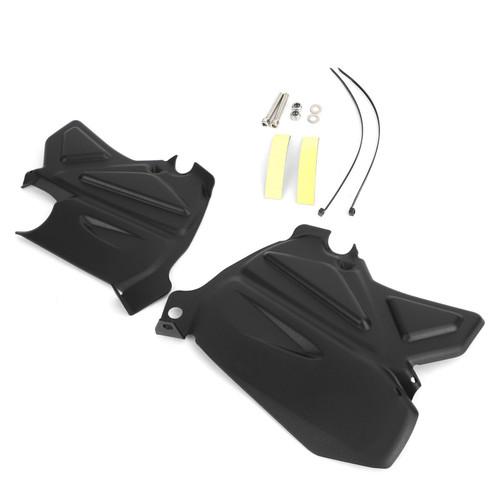 Passenger Foot/Feet Fender Cover Protection Fit For BMW R1200RT LC 2014+ Black