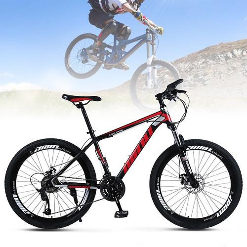 AUS 26 Inch Unisex Mountain Bike 21 Speed Mountain Bicycle Red+Black