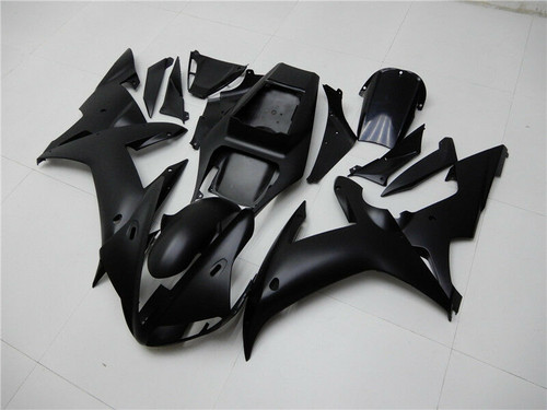ABS Matte Black Injection Molded Fairing Kit Fit for Yamaha YZF R1 2002 2003