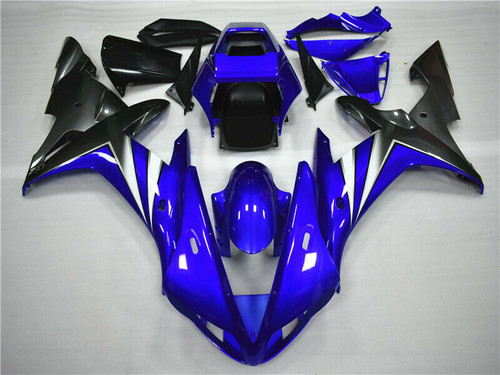 ABS Gloss Blue Injection Plastic Kit Fairing Fit Yamaha YZF R1 2002-2003