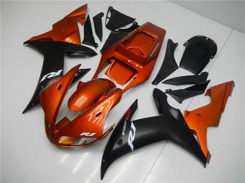 ABS Injection Plastic Kit Fairing Fit Yamaha YZF R1 2002-2003 Orange