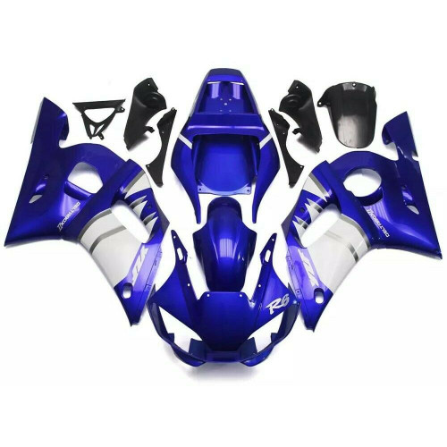ABS Injection Plastic ABS Fairing Fit for Yamaha YZF R6 1998-2002 Blue White