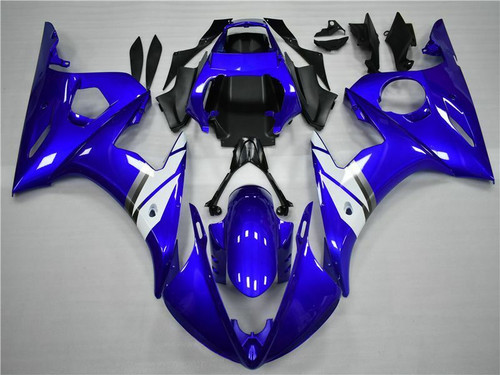 Fairing Blue White Injection Plastic Kit Fit For YAMAHA 2003 2004 YZF R6