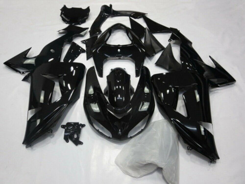 Fairing Injection Plastic Kit Yellow Black Kit Fit For Kawasaki Zx10R 06-07