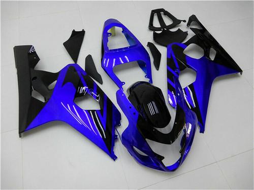 Fairing Injection Plastic Kit Blue Black Fit For Suzuki GSXR600/750 2004-2005