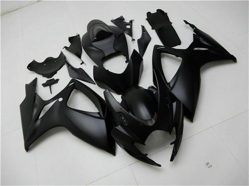 Fairing Injection Plastic Kit Matt Black Fit For Suzuki GSXR600/750 2006-2007