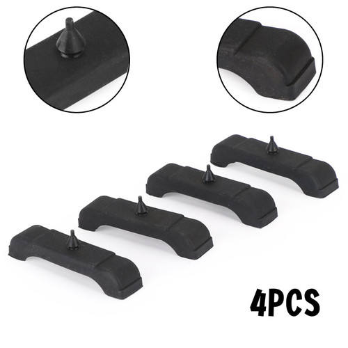 4PCS Rubber Radiator Mounting Cushions Support Pads Fit For GM Chevrolet Black