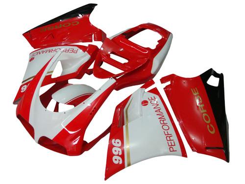 Fairing Kit Bodywork for 1996-2002 Ducati 996 748 Red White