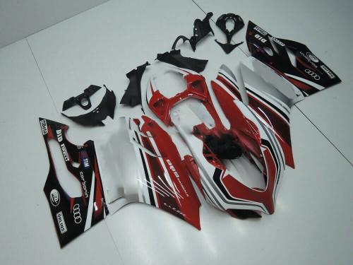Fairing Kit For 2012-2015 Ducati 1199 899 Black Red White Bodywork