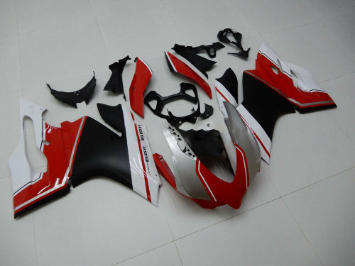 2012-2015 Ducati 1199 899 Red White Black Injection Body Cover Fairing Kits