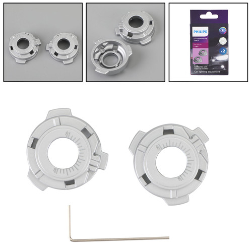 For Philips 11172BX2 Type B Connector Rings LED H7 Headlight Holder Accessories
