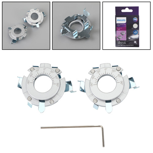 For Philips 11172CX2 Type C Connector Rings LED H7 Headlight Holder Accessories