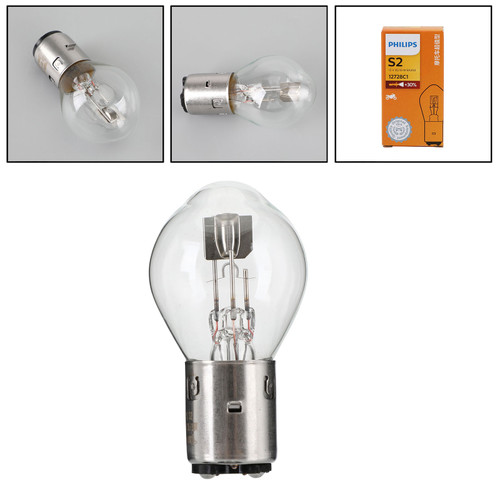 For Philips 12728 Premium Vision S2 35/35W BA20d +30% Motorcycle Phare Bulb