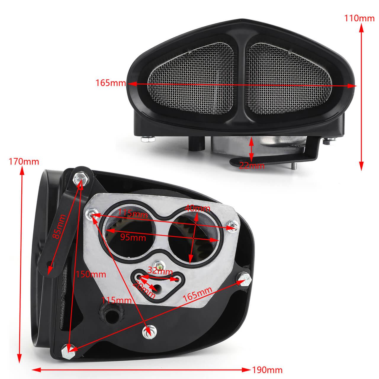 Air Intake Cleaner System for Yamaha XVS950C Bolt / R-Spec 14-19 06-0267 XVS950CR 15-16 Black