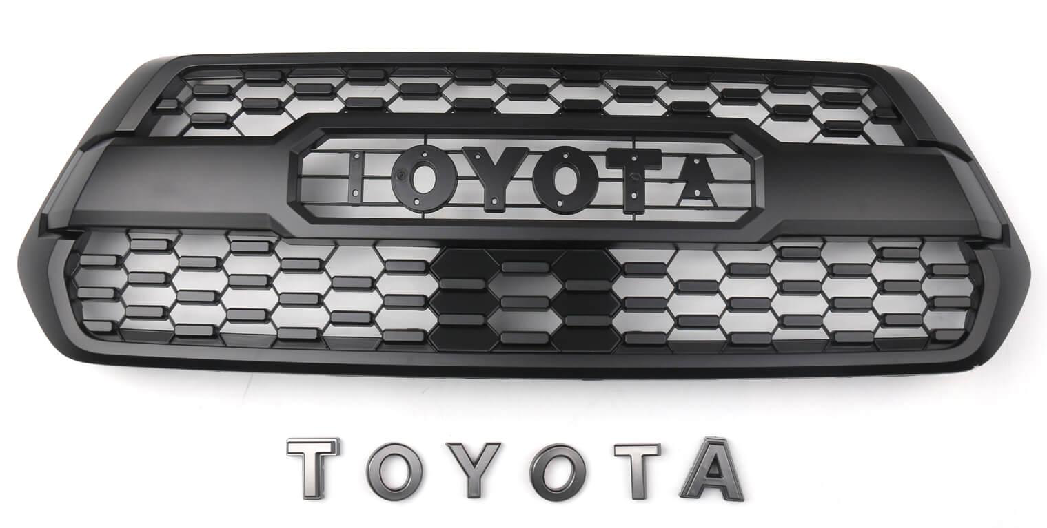 TRD Pro Grille Fit for Tacoma (2020) Matte Black PT228-35170 with TOYOTA Letters