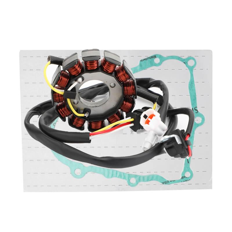 Magneto Generator Stator & Gasket For Yamaha YFZ450 S/T 04-05 YFZ450 W/X/Y 07-09 YFZ450 12-13