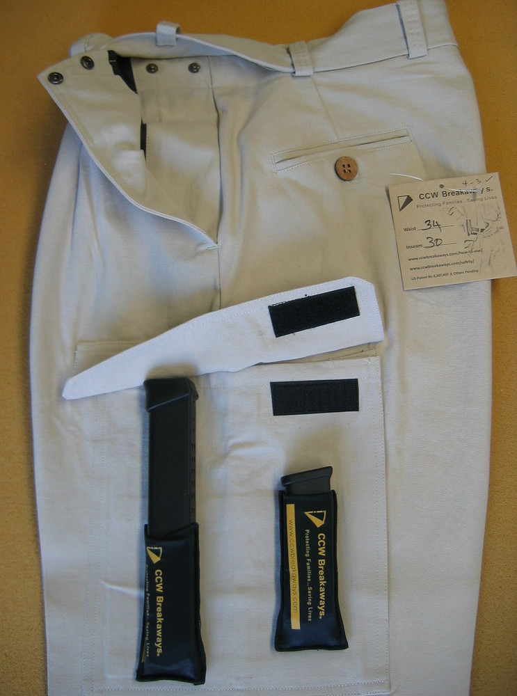 Side Cargo Pockets Capable of Concealing 31 Round Glock Mags