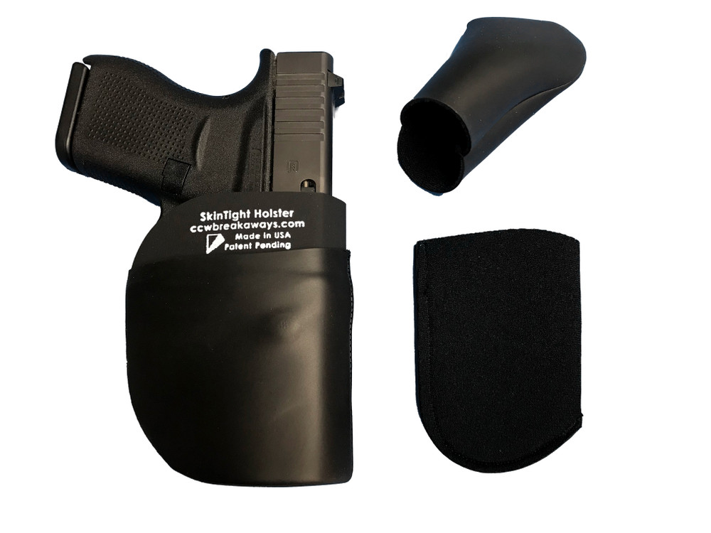 SkinTight Holster with One Replacement Skin Inside-Out and One Stretchable Skin Ready for Installation