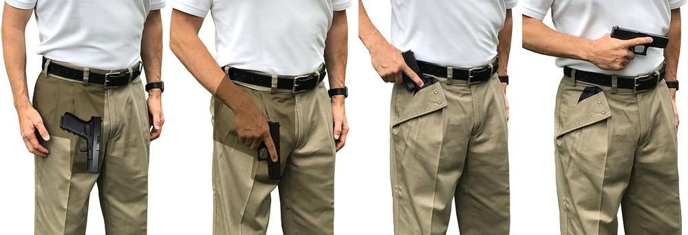 Top Three Ways to Eliminate Gun Printing in Pants Pockets