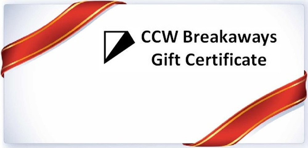 Can I buy a gift certificate on ccwbreakaways.com?