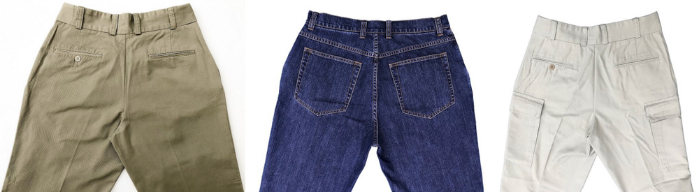 Lots of front-facing pictures of CCW Pants but what do the Rear Pockets look like?