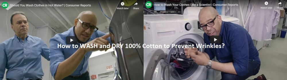 How to Wash and Dry 100% Cotton Clothing to Prevent Wrinkles?