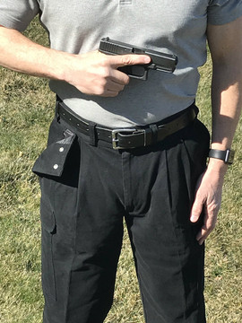 CCW Breakaways BLACK Cargos Glock 19 Concealed in 34 Waist Bright Sunlight