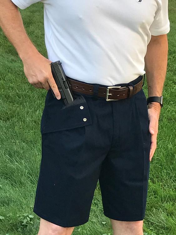 Dark Navy Khaki Shorts