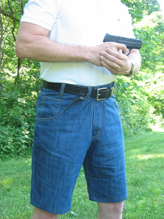 Concealed Carry Denim Jeans Shorts
