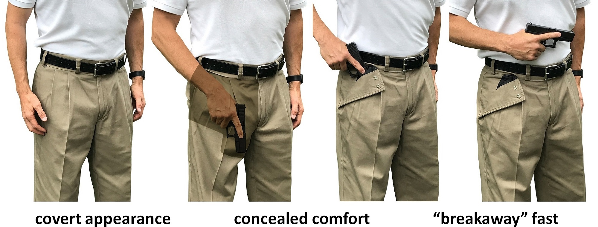 covert concealed carry clothing with breakaways fast draw