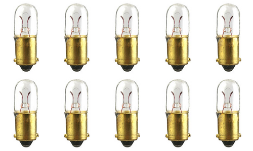 Wire Terminal Base 1.12 W T-1.75 shape Box of 10 14 V CEC Industries #1705 Bulbs