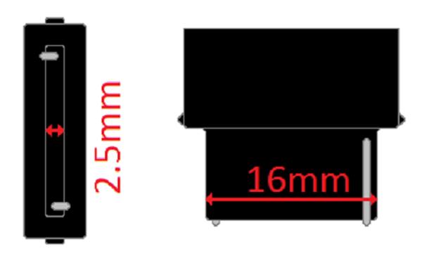 W2.5x16d base Connector Plug Socket 7.5 pigtail for 3156 bulbs