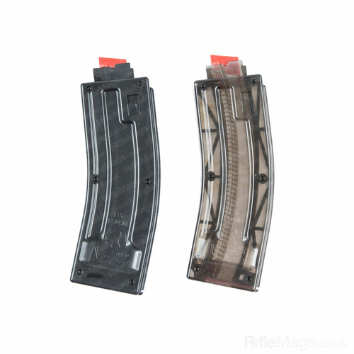 Black Dog 25 round .22LR magazine (CZ V22 fit) available in smoke and black