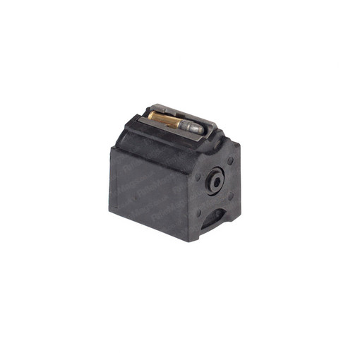 The Ruger BX-1 10 round 10 shot .22LR rotary magazine for Ruger 10/22 SR22 and 96/22 rifles in black.