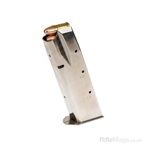 CZ 75/85 16 round nickel plated 9mm magazine