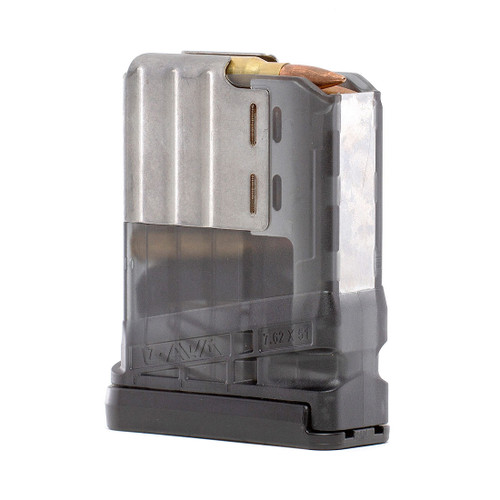 Lancer Systems L7AWM 10 round magazine .308 7.62mm SMOKE (steel lips)