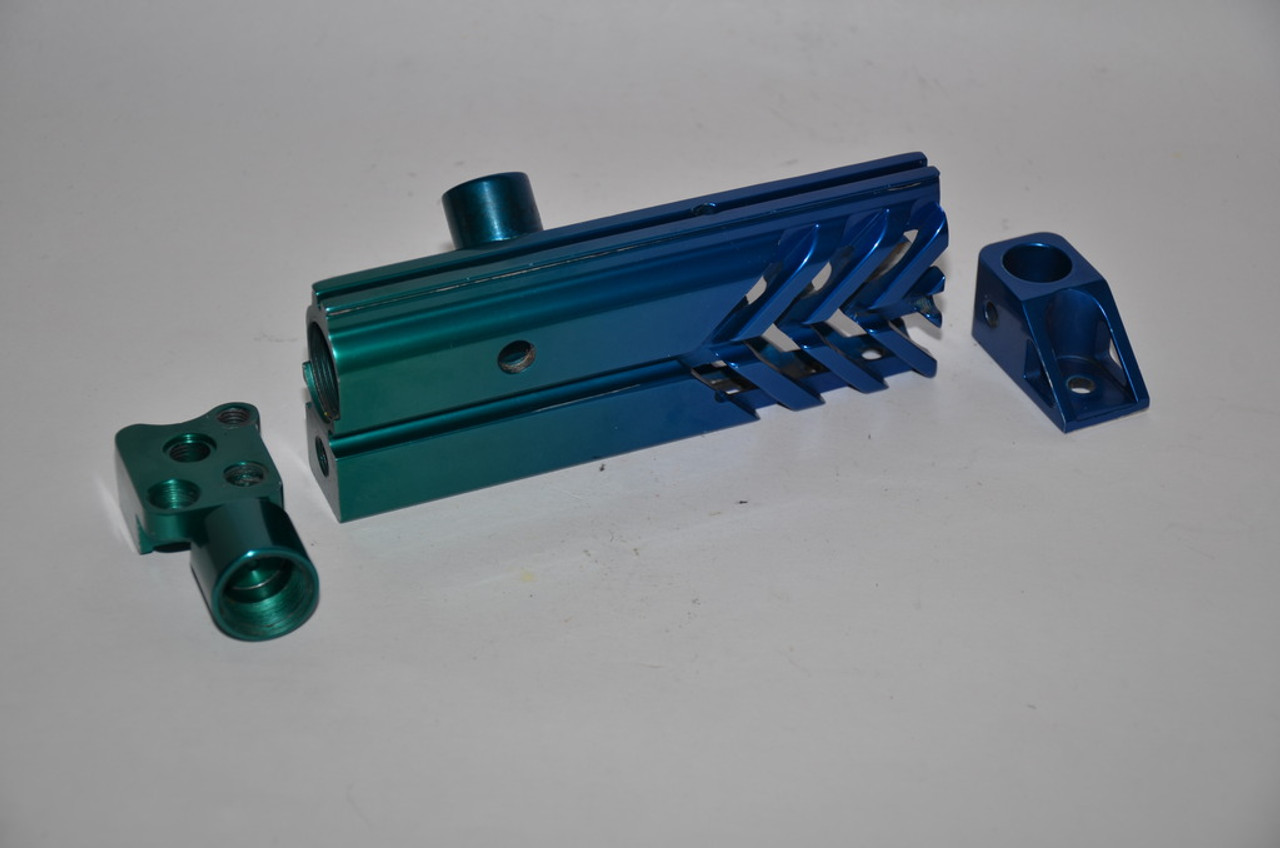 WGP Custom Pre 2k Right Feed Body Kit - Green/Blue Fade