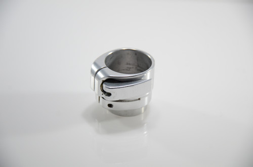 Bob Long - Lever Lock Clamping Feedneck - Gloss Silver