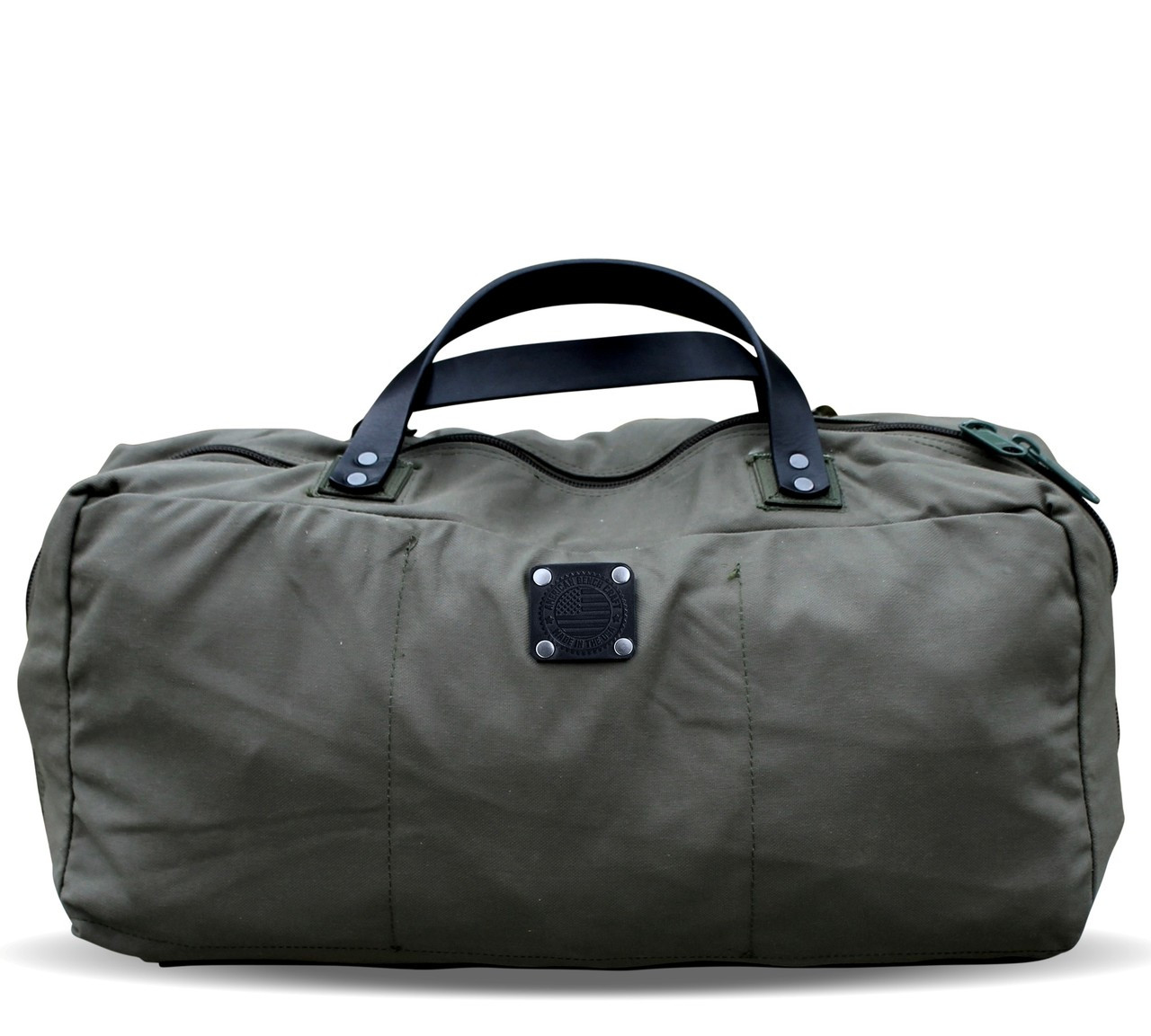 519b42a87e7 American Bench Craft   Rescued Army Surplus Canvas Duffel Bag