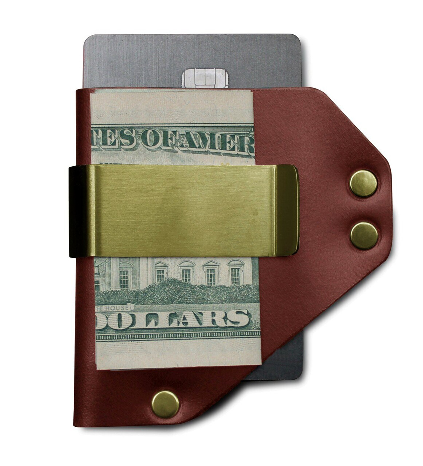 Caliber Money Clip Wallet - Slim, Front Pocket Wallet (Premium Veg-Tanned Leather) with Money Clip and RFID Blocking Credit Card Holder