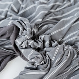 Adult swaddle blanket gray Tundra