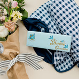 Adult swaddle blanket classic blue and white gingham
