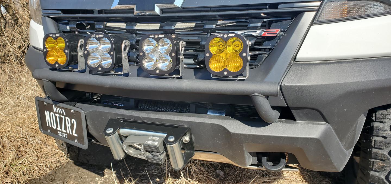 Steel line adapter shown