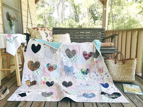 MEMORY QUILT - Hand Cut Hearts